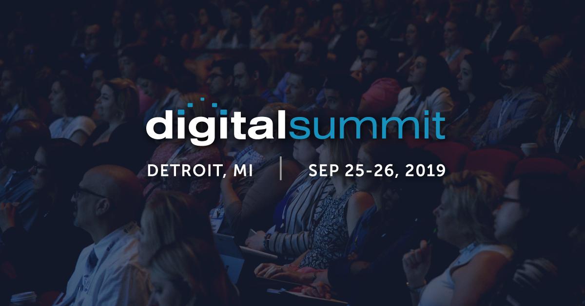 #DSDET Digital Summit